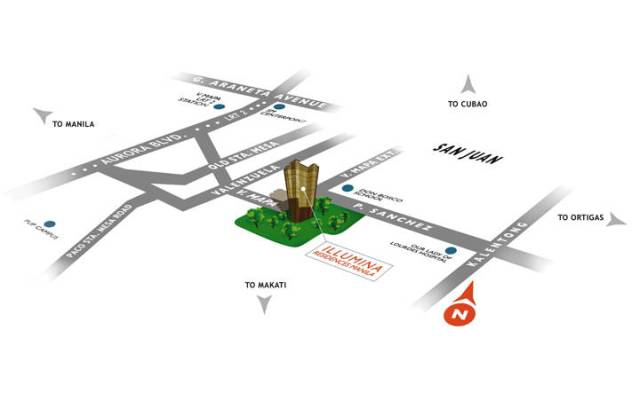 illumina residences location map