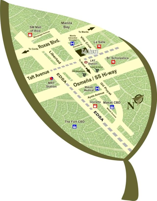 La verti Residences - location map