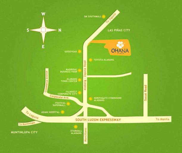 ohana place location map
