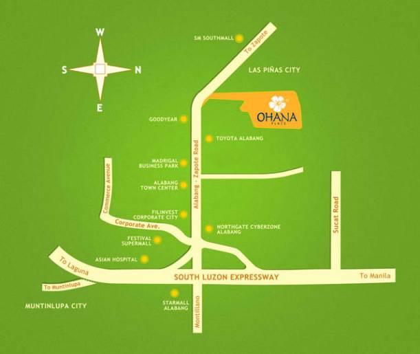 ohana place location map