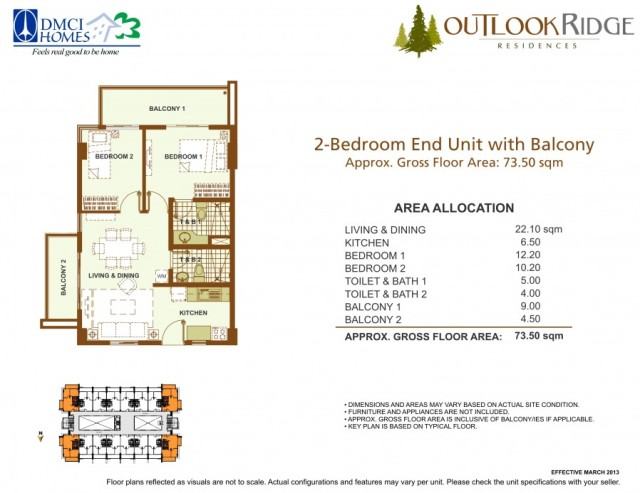 outlook ridge residences 2 bedroom end unit