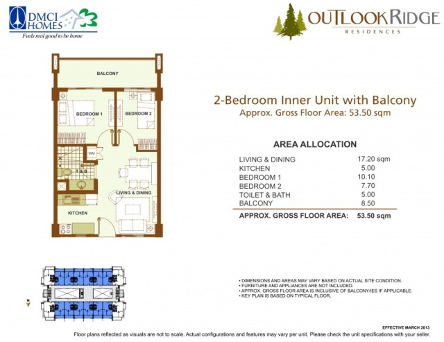 outlook ridge residences 2 bedroom inner unit