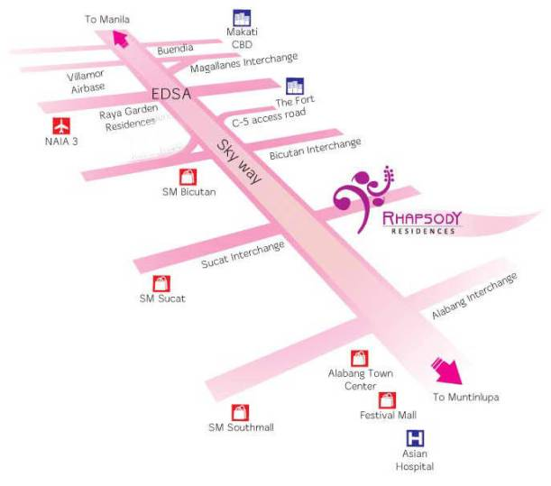 Rhapsody Location Map in Muntinlupa
