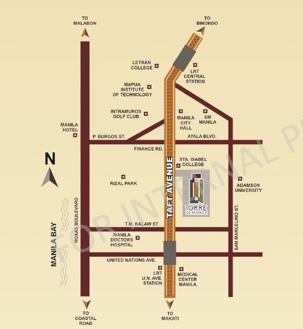 torre de Manila Location Map