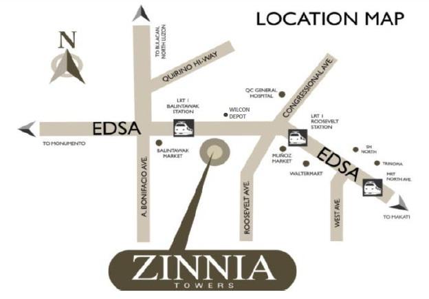 Zinnia Towers Location Map